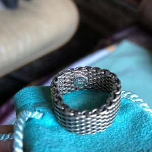 Tiffany & Co. Jewelry - 🌞Iconic Tiffany Sterling Silver Mesh Ring!